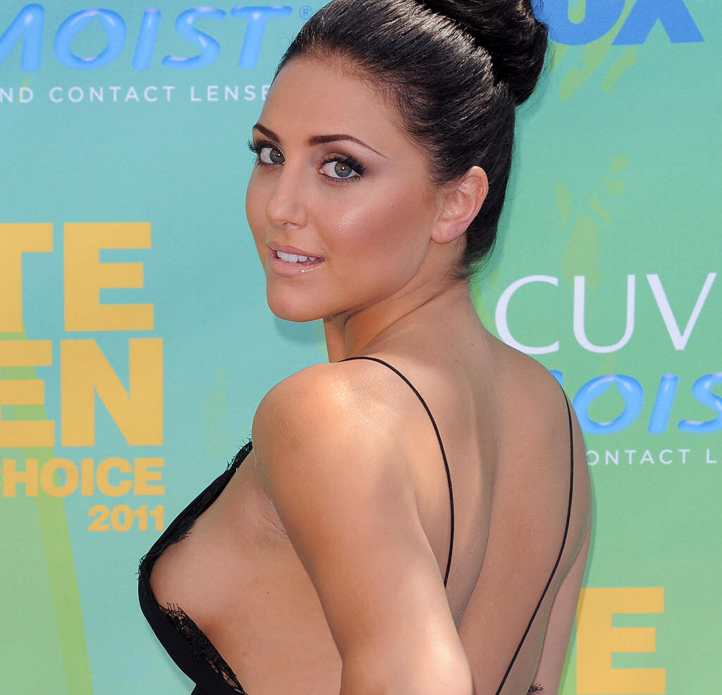 Cassie Scerbo Sexy Side-Boob and Upskirt, OOPS ...