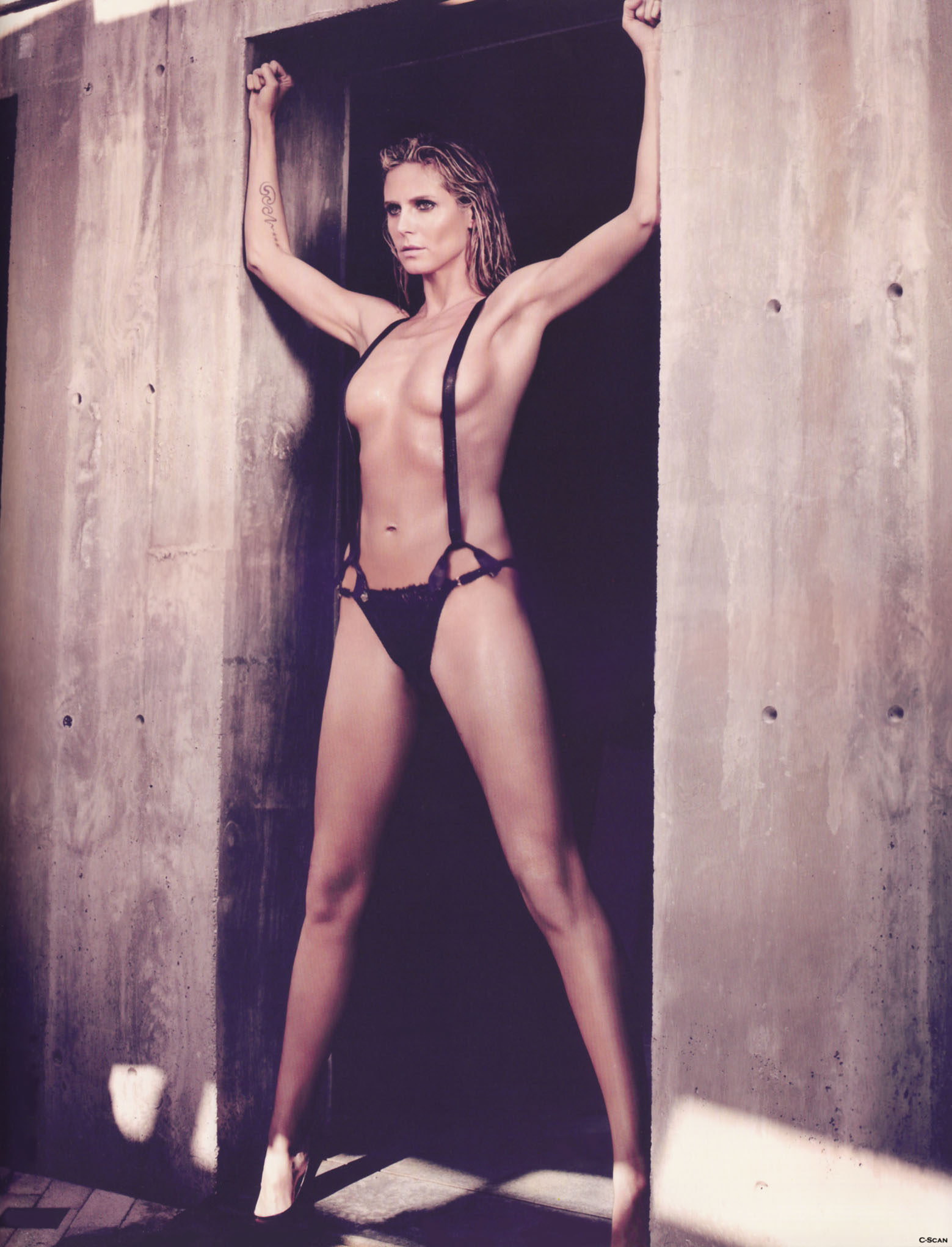 See through heidi klum nude something