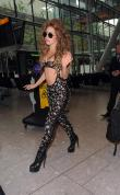 Lady Gaga Arriving To Heathrow Airport 135710