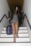 Disney Channel starlet Selena Gomez leaves a salon in West Hollywood dressed to impress in a short silver dress