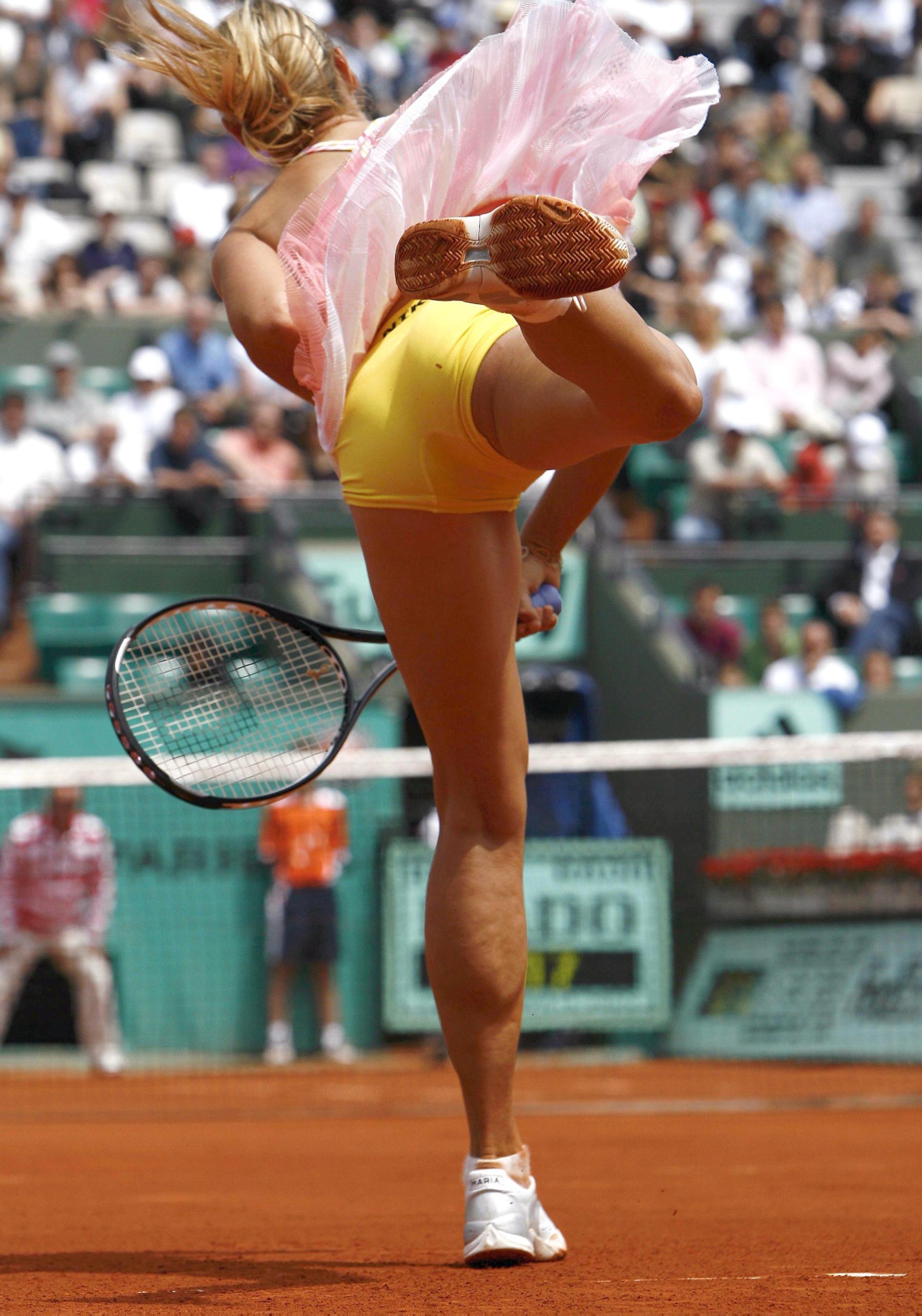 Фото засветы девушек в спорте