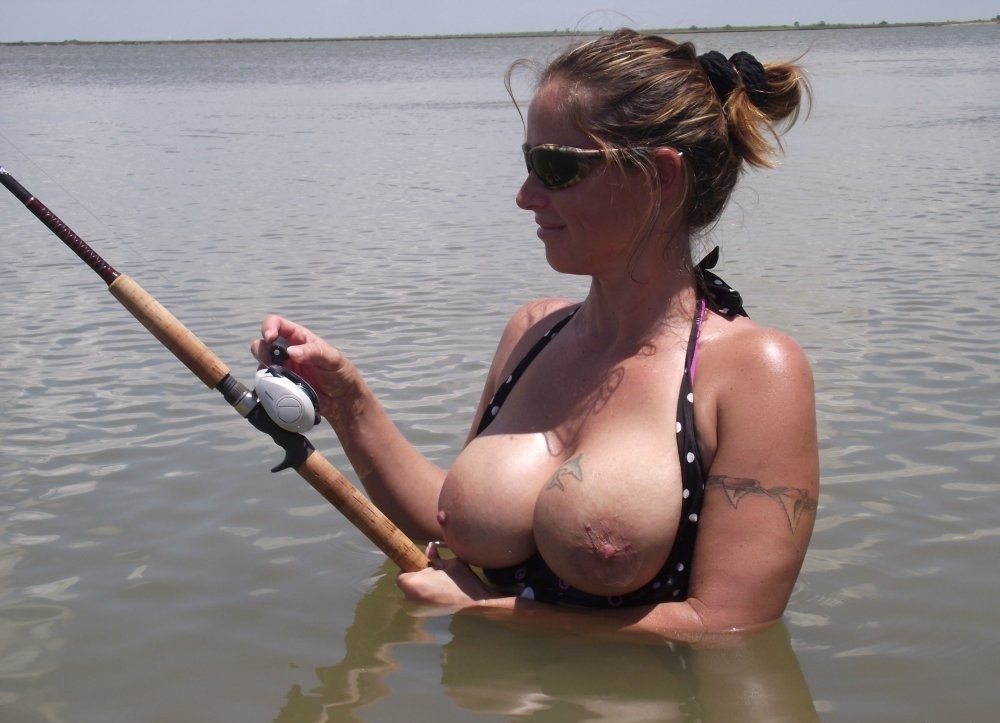 Naked fishing picture