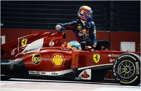 F1 'taxi' lift Webber Alonso